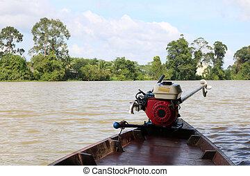 エンジン, ボート, 使用, adapted, 小さい