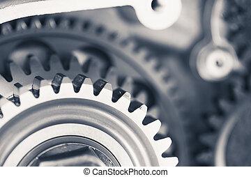 エンジン, 交通機関, ギヤ, 背景, 車輪