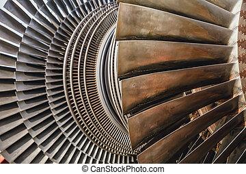 エンジン, 使用, ジェット機, 力, 刃, 金属, 蒸気, 駅, タービン, ∥あるいは∥