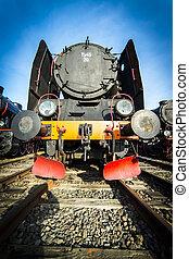 エンジン, 家, 機関車, 蒸気
