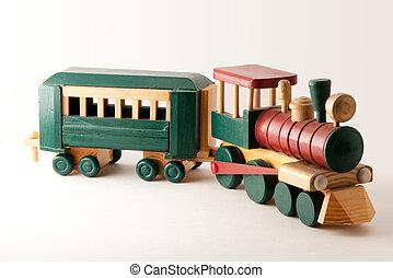 エンジン, 木製の列車, おもちゃ 車