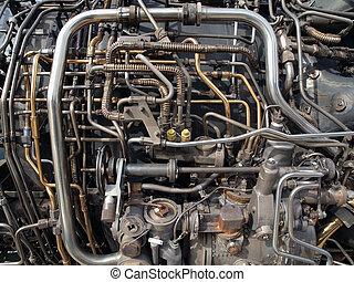 エンジン, 管, ジェット機