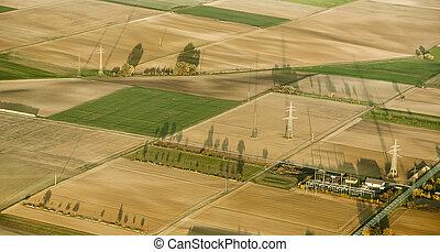 エーカー, 田園, 暑い, 風景, balloon, 空気