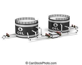 オイル貯蔵, タンク