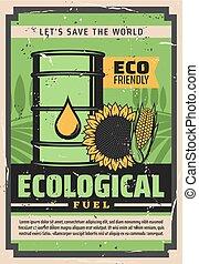 オイル, ひまわり, biodiesel, トウモロコシ, 生態学的, 燃料