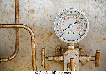 オイル, ガスゲージ, 圧力