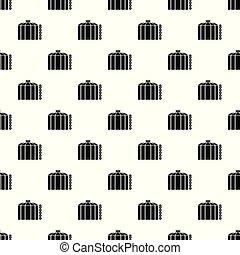 オイル タンク, パターン, 貯蔵, seamless, ベクトル