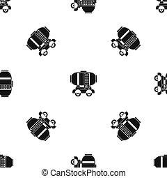 オイル タンク, パターン, 貯蔵, seamless, 黒, ワゴン