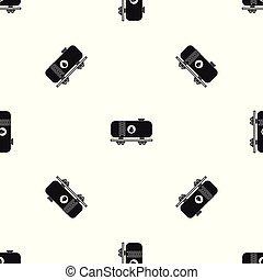 オイル タンク, パターン, seamless, 黒, 鉄道