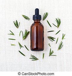 オイル, 原料, aromatherapy., 自然, 必要, エステ, ローズマリー