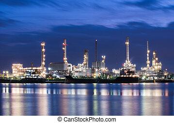 オイル, 工場, 石油化学, ガスの 精製所