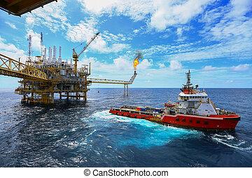 オイル, 建設, room., マニュアル, industry., 懸命に, 沖合いに, 自動車, 制御, 機能, gas., 産業, 仕事, 採収プラットホーム, オペレーション, ガス, プロセス