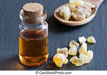 オイル, 必要, びん, 水晶, frankincense
