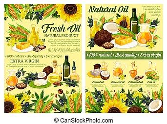 オイル, 有機体である, 料理油, 野菜, 自然