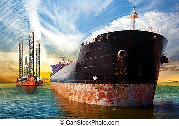 オイル, 船, 用具一式