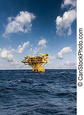 オイル, construction., 世界, エネルギー, ∥あるいは∥, 沖合いに, 海, 用具一式, プラットホーム, 湾, ガス