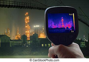 オイル, rafinery, 赤外線