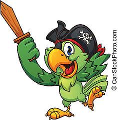 オウム, 海賊