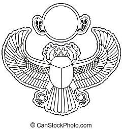 オオタマオシコガネ, ベクトル