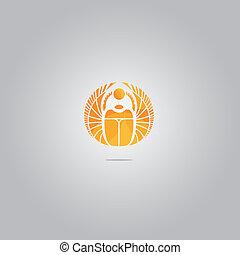 オオタマオシコガネ, ロゴ, ベクトル, 金
