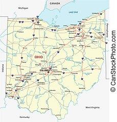 オハイオ州, 道路図