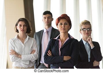 オフィスの人々, グループ, ビジネス, 多様