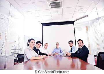 オフィスの人々, ミーティング, ビジネス