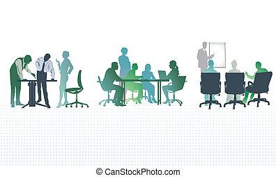 オフィスの会合