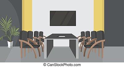 オフィスの 会合, ラウンド, 会議, 人々, 創造的, ワークスペース, テーブル, 部屋, いいえ, 空, co-working, 平ら, 横, キャビネット, 内部, 現代