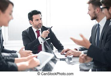 オフィスの 会合, 仕事, ビジネス チーム