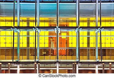 オフィスビル, 窓, ∥, 抽象的, 背景