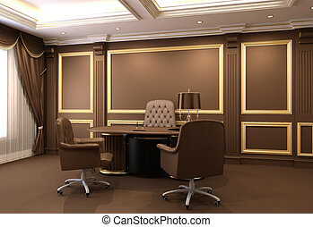 オフィス家具, 内部, 木製である