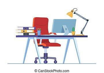 オフィス机, ∥あるいは∥, 家