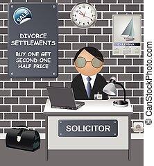 オフィス, こっけい, solicitors