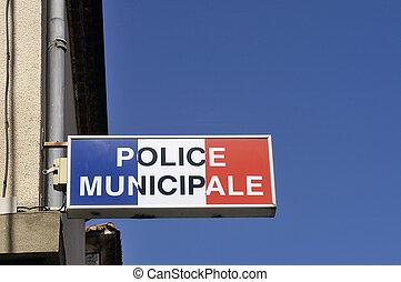 オフィス, の, 市の, 警察