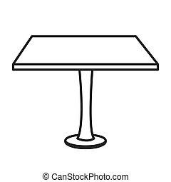 オフィス, イラスト, ベクトル, 机, テーブル, アイコン