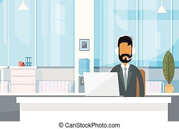 オフィス, オンラインで, ビジネスマン, 仕事, indian, モデル, 人, サポート, インド, ラップトップ...