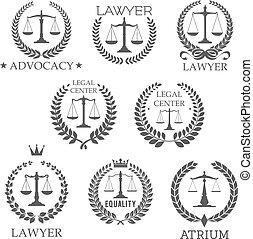 オフィス, スケール, 正義, アイコン, 弁護士, 法律