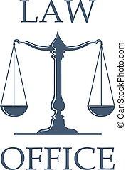 オフィス, スケール, 正義, ベクトル, 法律, アイコン