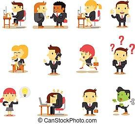 オフィス, ビジネス 人々