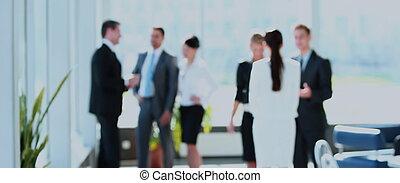 オフィス, ビジネス 人々, 成功した, 話し, ミーティング