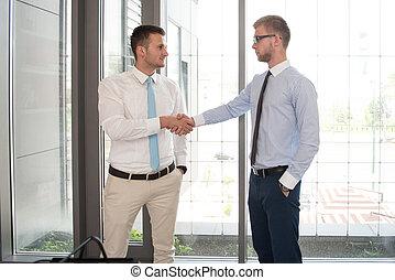 オフィス, ビジネス, 2つの手, 動揺, 人