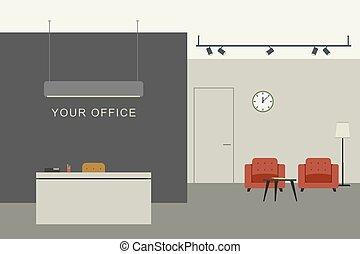 オフィス, レセプション, 内部