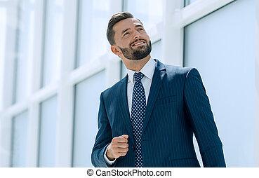 オフィス, 夢を見ること, ビジネスマン, 新しい, 地位