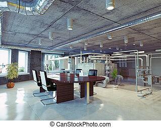 オフィス, 屋根裏