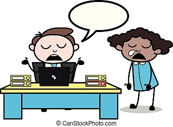 オフィス, 得ること, 寄付, -, イラスト, 睡眠, 従業員, 間, ベクトル, 講義, borred, ビジネスマン, 上司, 漫画