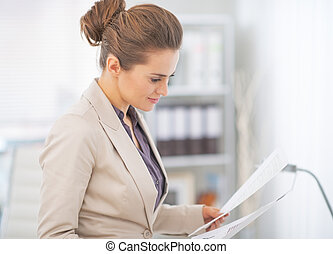 オフィス, 文書, 仕事, ビジネス 女