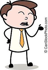 オフィス, -, 楽しみ, ベクトル, illustration?, 作成, 従業員, ビジネスマン, 漫画
