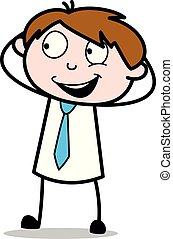 オフィス, -, 楽しみ, ベクトル, illustration?, 笑い, 従業員, 作成, セールスマン, 漫画