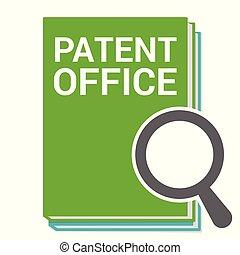 オフィス, 特許, ガラス, 光学, 言葉, 法律, 拡大する, concept: